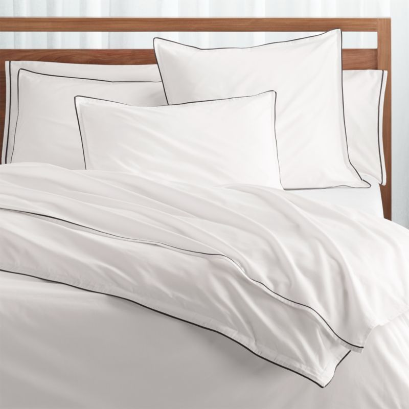 Haven Full Queen Black Percale Duvet Cover Reviews Crate And
