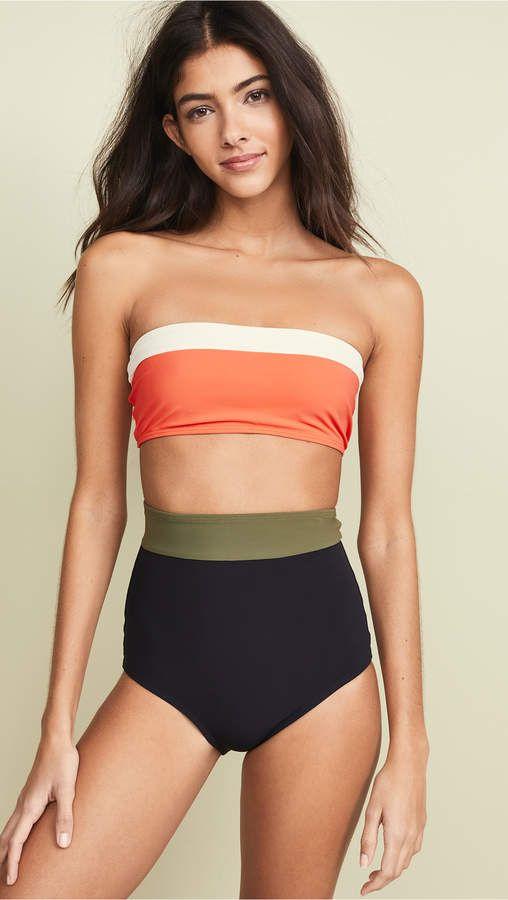 12ad0b75233a4 Flagpole Lori Bandeau Top Bandeau Top, Bikini Tops, Bikinis, Swimwear,  Clothes,