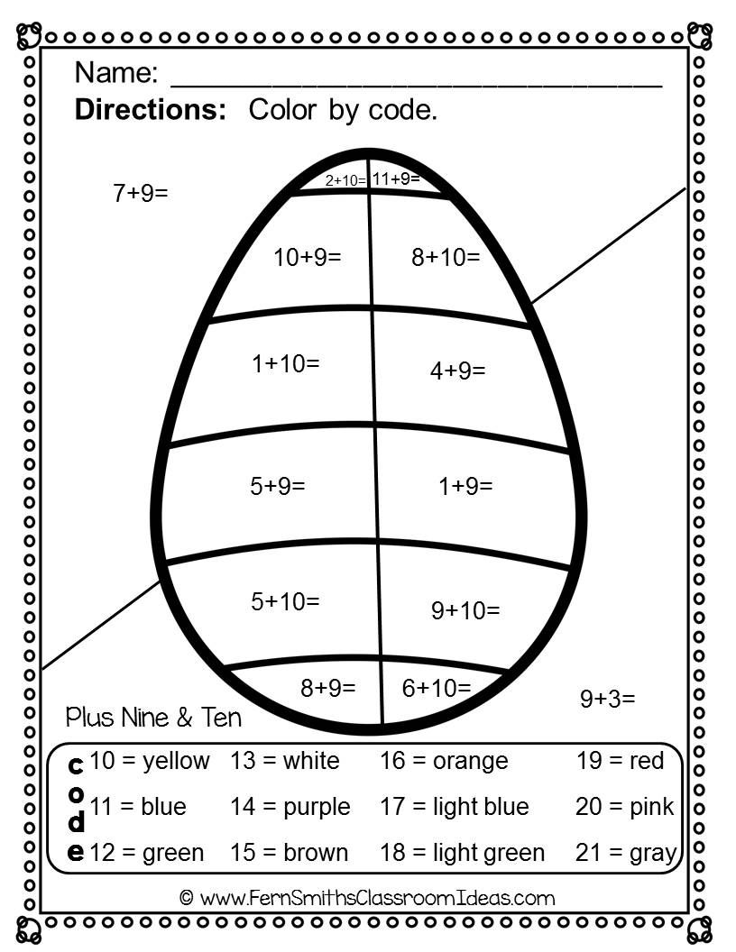 #Easter Addition and Subtraction Facts - Color Your Answers Printables for some Easter Math Fun in your classroom! Our FUNKY SERIES - Students can't predict the answers and they love the colorful finished product they get to take home! This Easter Math resource includes: TEN No Prep Printables that can be used for your math center, small group, RTI pull out, seat work, substitute days or homework, answer keys included too! #TPT #FernSmithsClassroomIdeas $paid
