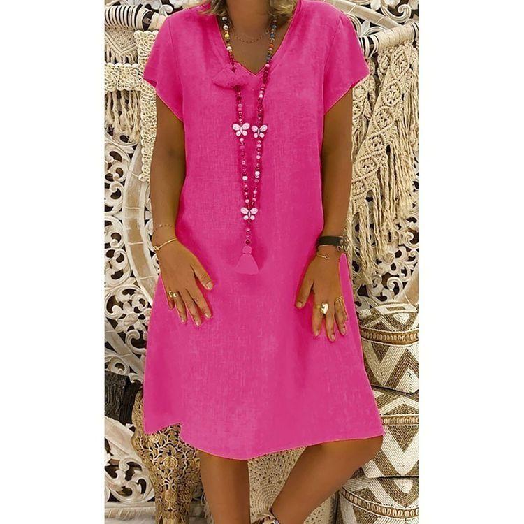 Aves De Avestruz Gratis 2019 Feminino Vestido Camiseta Algodón Casual Tallas Grandes Vestido De Mujer Vestido De Lino Informal Batas Vova Vestidos Elegantes Para Gorditas Vestidos De Mujer Vestido Para Gorditas