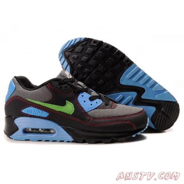 Air Max Homme Hommes Nike Air Max 90 Noir Gris Bleu Vert