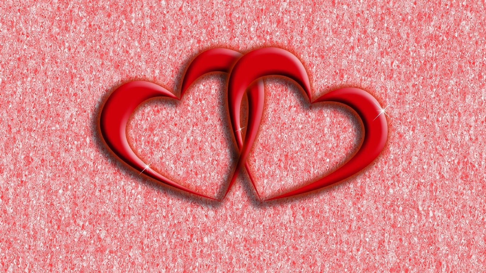 RED CRYSTAL LOVE HEARTS Love Wallpaper 1600x900 Heart 52 Wallpapers