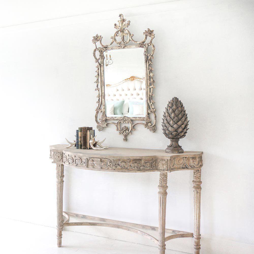 Secret Garden Mirror | Distressed Mirror | painted furniture | Pinterest