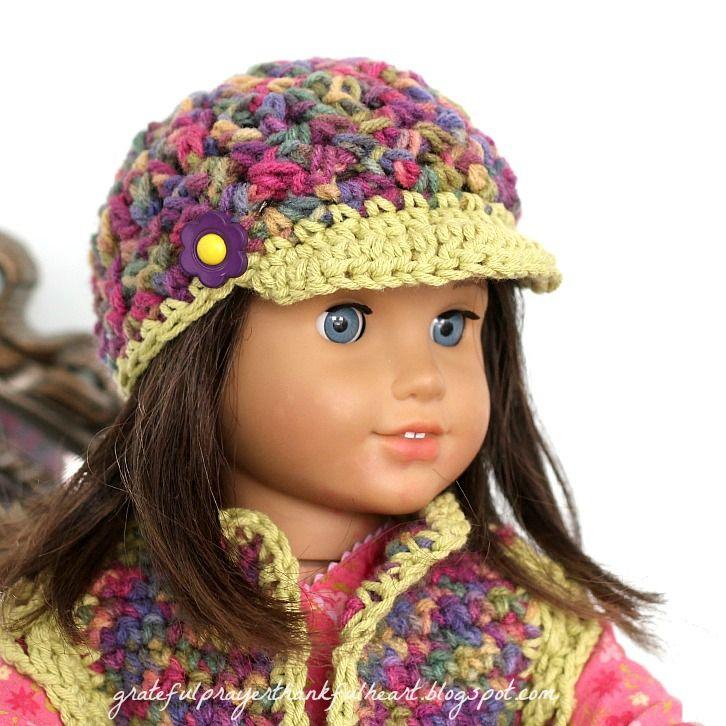 American Doll Crochet Hat | Crochet baby stuff | Pinterest | Muñecas ...