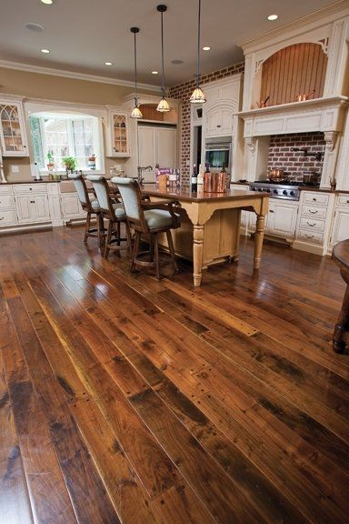 walnut kitchen floor custom milled trail collection distressed 3344