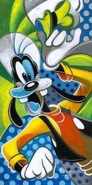 "*GOOFY ~ ""Hat's Off To Ya"" by Tim Rogerson - Limited Edition of 195 on Canvas, 24x12."
