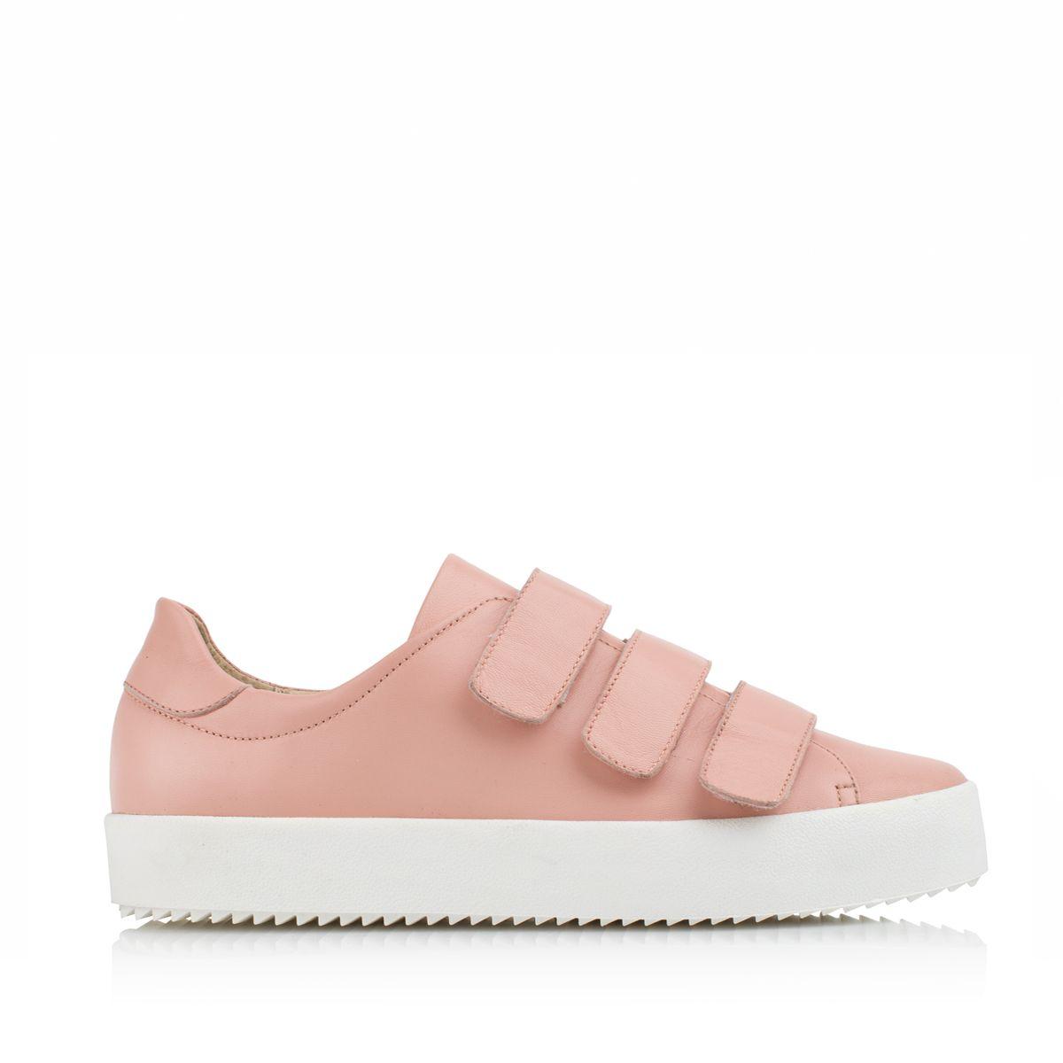 KACHOROVSKA / rose leather sneakers