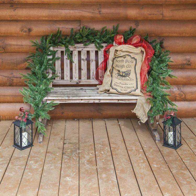 Gartenbank Weihnachtlich Dekorieren Ideen Für Charmante