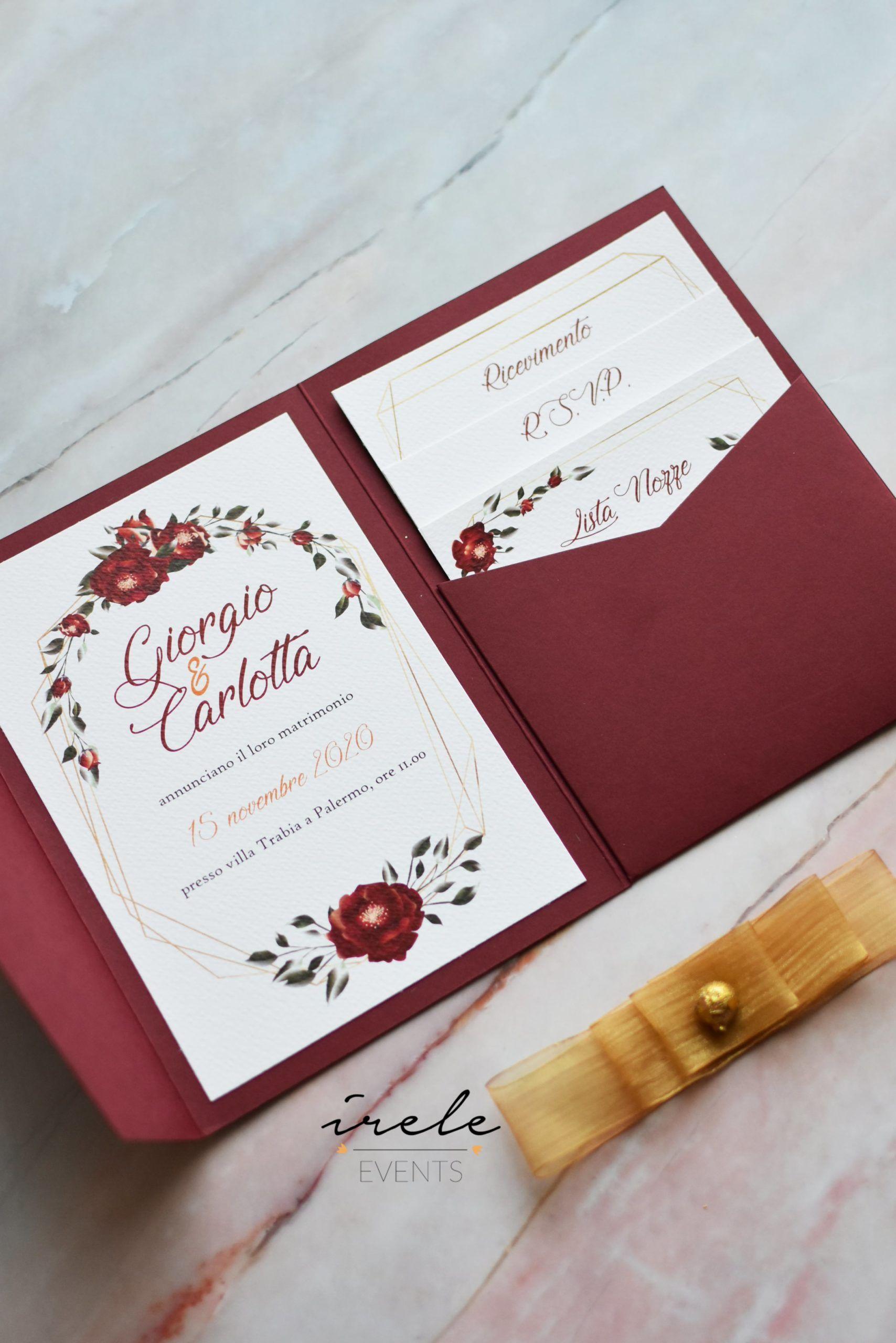 Partecipazioni Matrimonio Nozze Burgundy Borgogna Rose Nel 2020 Partecipazioni Per Matrimonio Inviti Di Nozze Originali Nozze