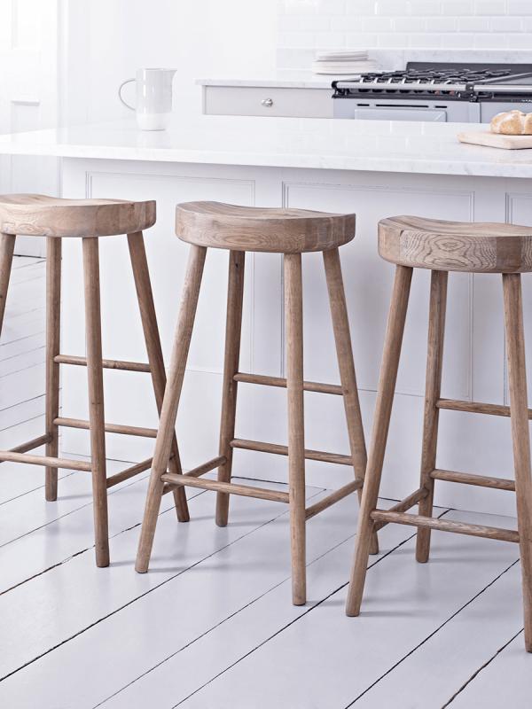 Weathered Oak Bar Stool Kitchen Dressing Table Stools Luxury