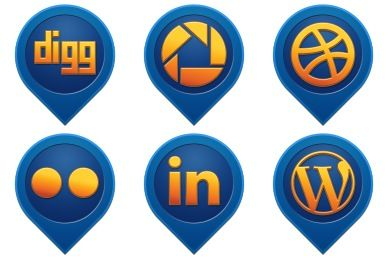 sample icons for social networking sites