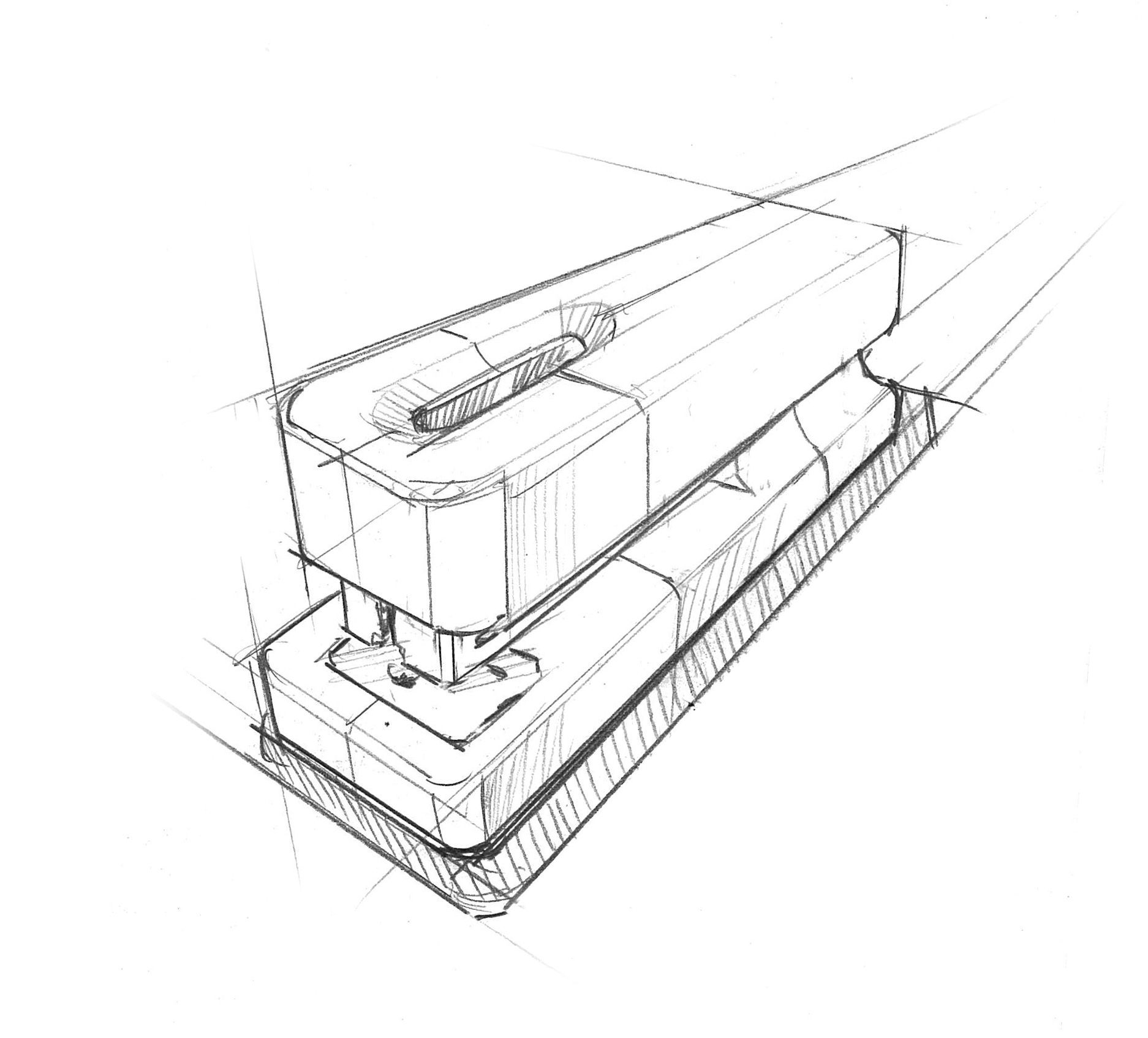 Stapler Technical Drawing 2 Design Sketches