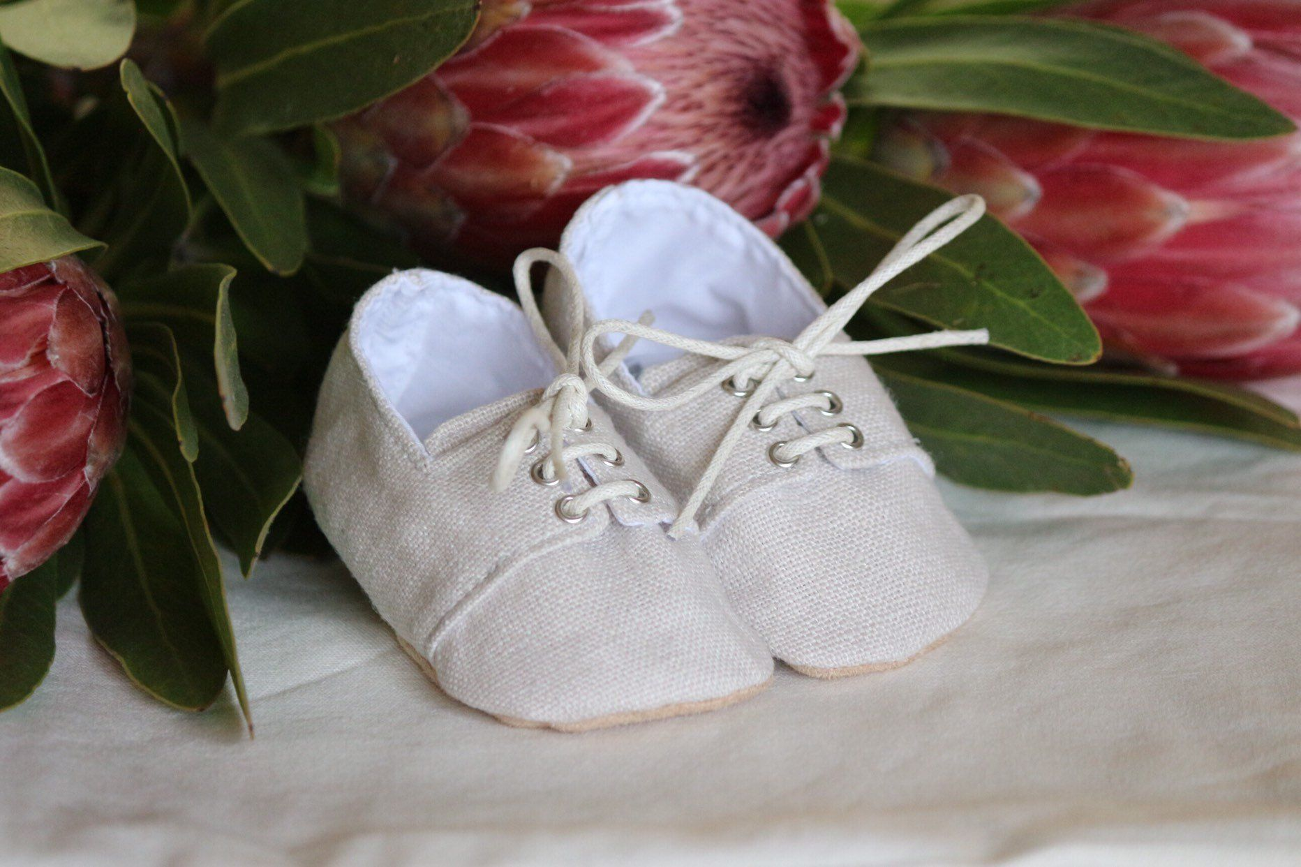 vintage style linen baby clothes