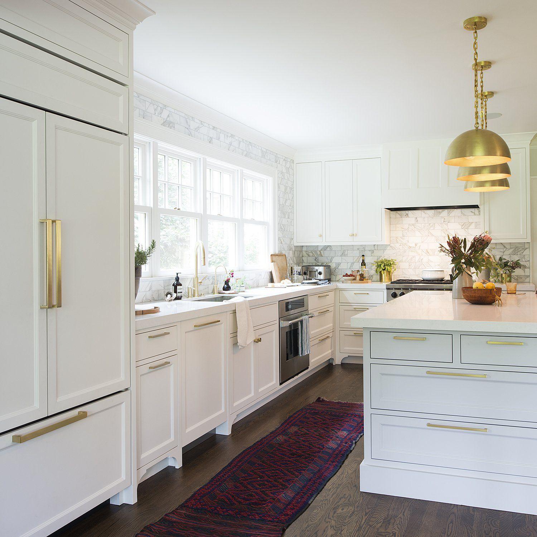 Edgecliff Appliance Pull Natural Brass New Kitchen Cabinets Kitchen Renovation Contemporary Kitchen
