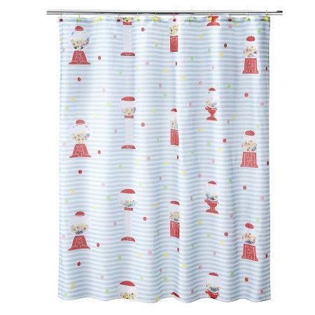 Gumball Machine Shower Curtain 70x71
