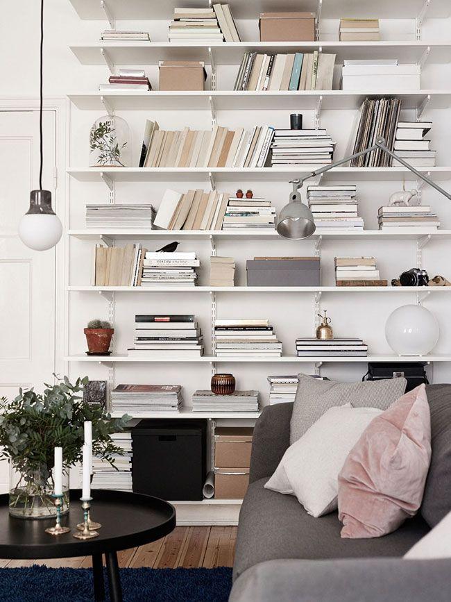10 id es d co pour am nager une biblioth que murale d coration maison decoration et deco. Black Bedroom Furniture Sets. Home Design Ideas