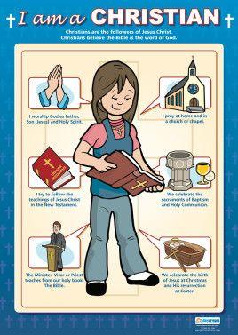 I Am A Christian Poster Religion Cristianos Desarrollo Humano