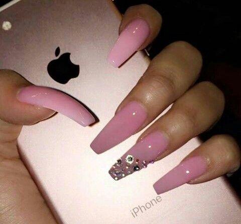 Pink Acrylic Coffin NailsLike What You See Follow Me Jassyjazz