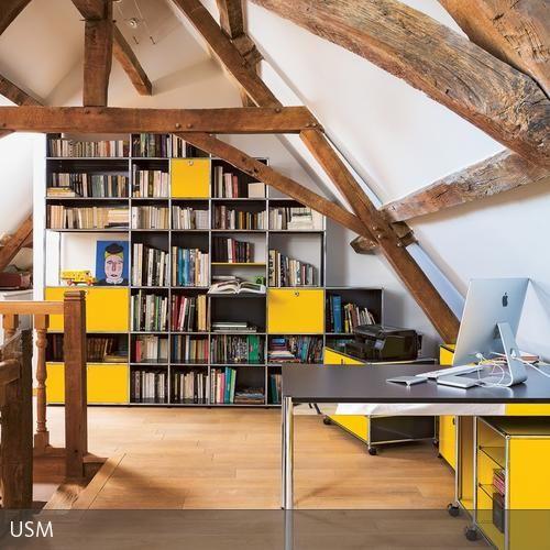 Regalsystem unter dachschr ge home pinterest for Raumgestaltung haller
