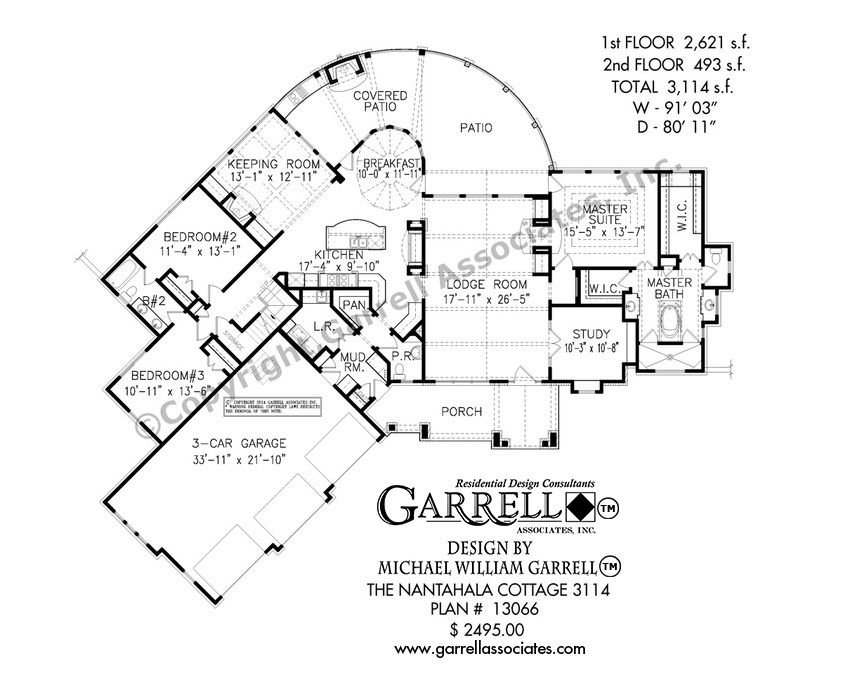 Nantahala House Plan 13066 1st Floor Plan Mountain Style House