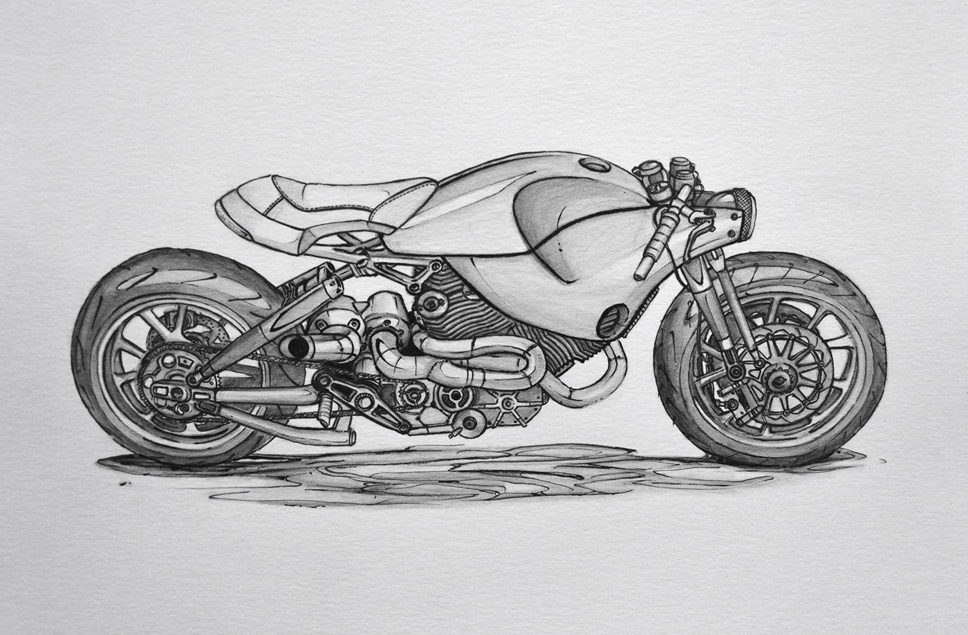 MOTORCYCLE - Sketchbook (design concepts) on Behance