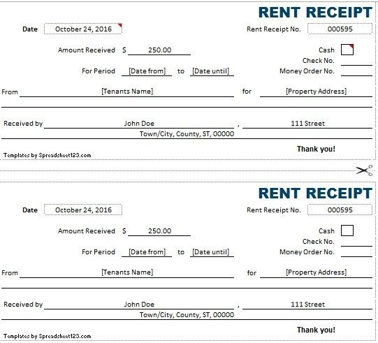 Rent Receipt Template Stationary Templates Pinterest Receipt - rent invoice