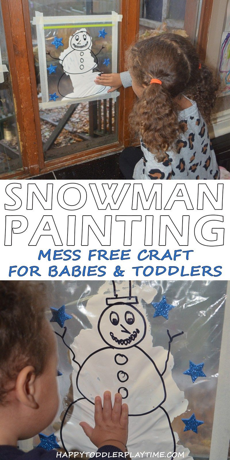 Mess Free Snowman Painting is part of Snowman toddlers crafts, Winter activities for toddlers, Snowman painting, Winter crafts, Arts and crafts for kids, Winter activities for kids - Mess free Snowman painting for Winter! A fun and easy art activity that is perfect for all ages  babies, toddlers and preschoolers!