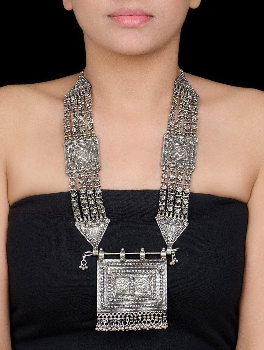 1589d628f0d Buy Silver Tribal Necklace by Jewels You Desire Jewelry Statements Hand  Crafted Etched from Rajasthan Online at Jaypore.com