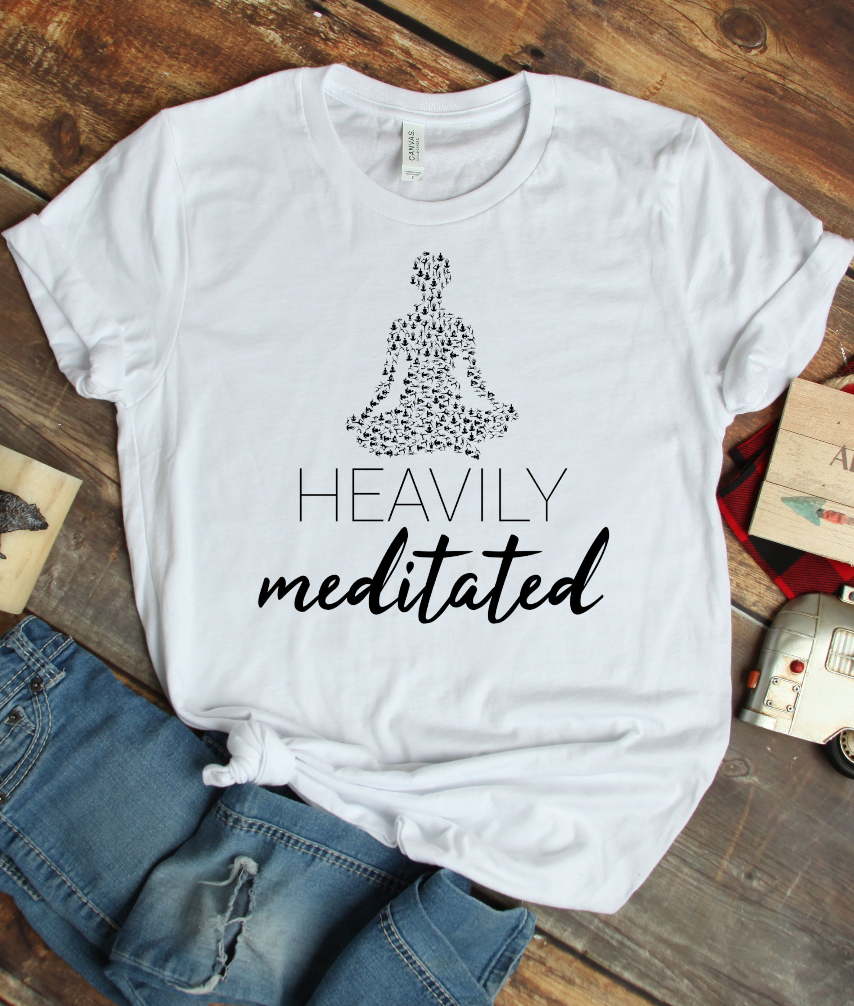 Heavily Meditated Unisex Short Sleeve Tee Funny Abstract Etsy T Shirts With Sayings Shirts Shirts With Sayings