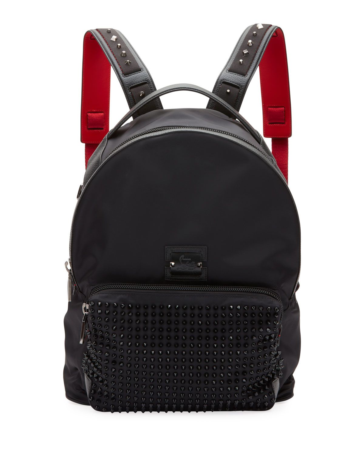498caadfea CHRISTIAN LOUBOUTIN MEN S BACKLOUBI EMPIRE SPIKES BACKPACK.   christianlouboutin  bags  leather  lining