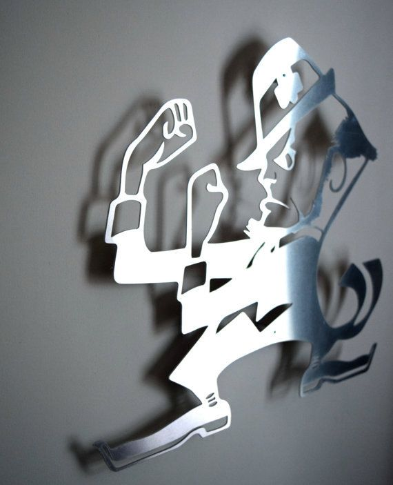 Notre Dame Wall Art notre dame fighting irish logo - floating metal wall art   notre