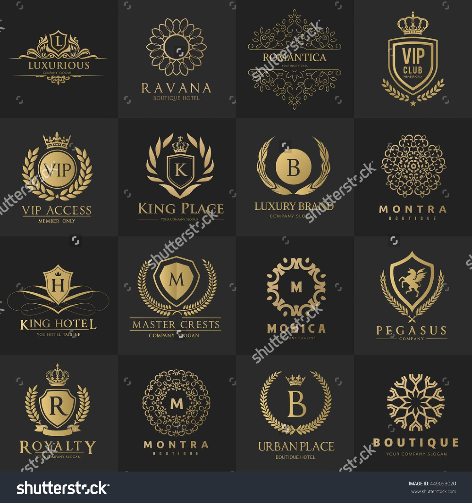 Luxury Logo Collection,Design For Boutique Hotel,Resort