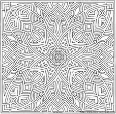 Kaleidoscope Coloring Pages For Adults Christmas Ornaments