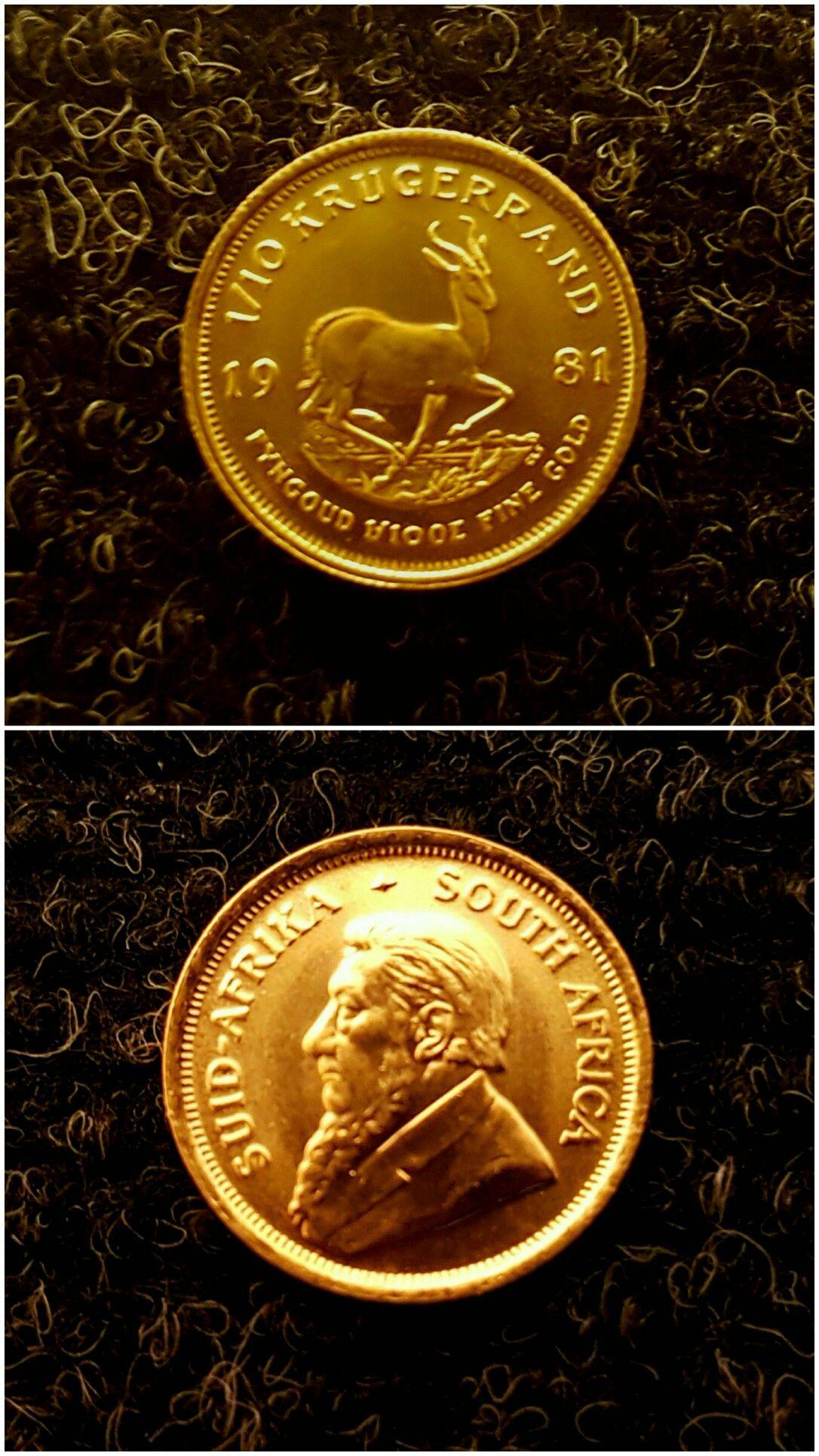 1 10th Oz Krugerrand 1981 Gold 10 Things Bullion