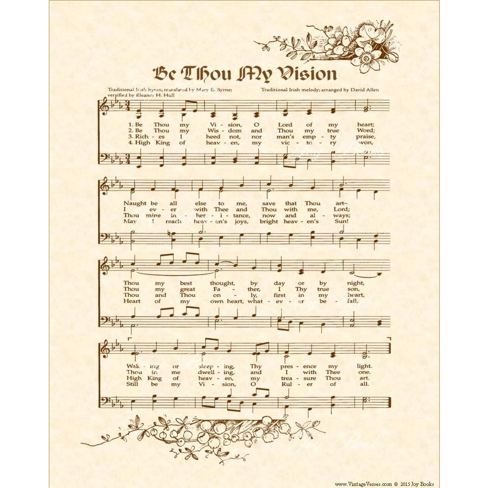 Pin by Joy Books on The Joy of Music | Hymn art, Be thou my