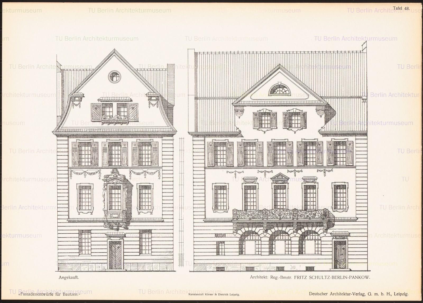 Ansichten And Aufbewahrung Standort Architektur Skizze Fassade Architektur