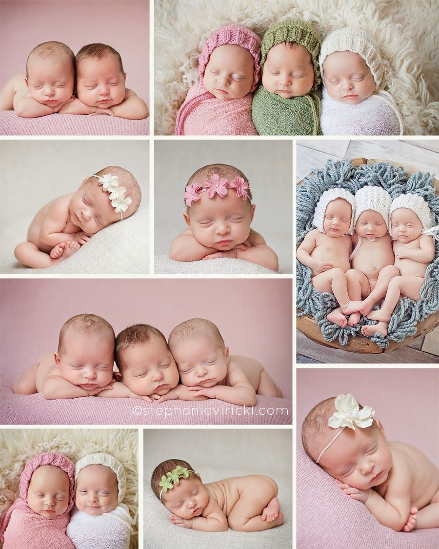 Triplets 7 weeks louisville ky newborn photography louisville newborn photographer stephanie viricki photography