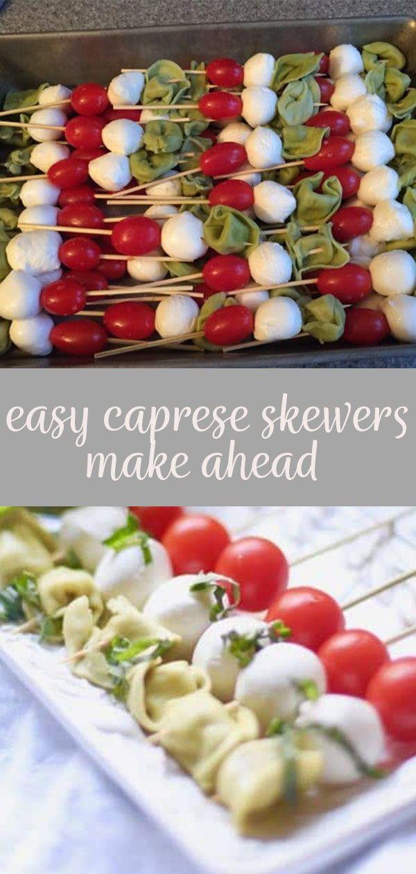 Photo of Easy Make-Ahead Caprese Skewers with Pesto Dressing