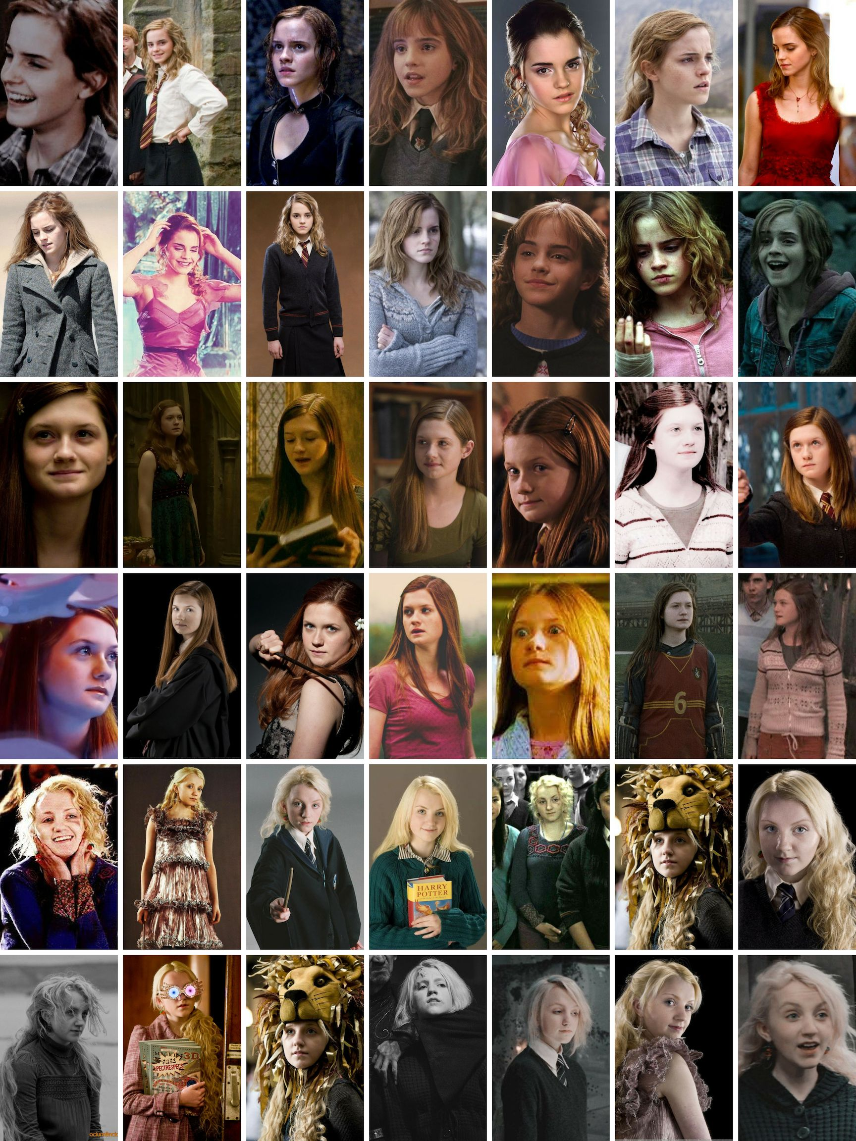 Hermione Ginny Luna Harry Potter Pictures Lestrange Harry Potter Harry And Ginny