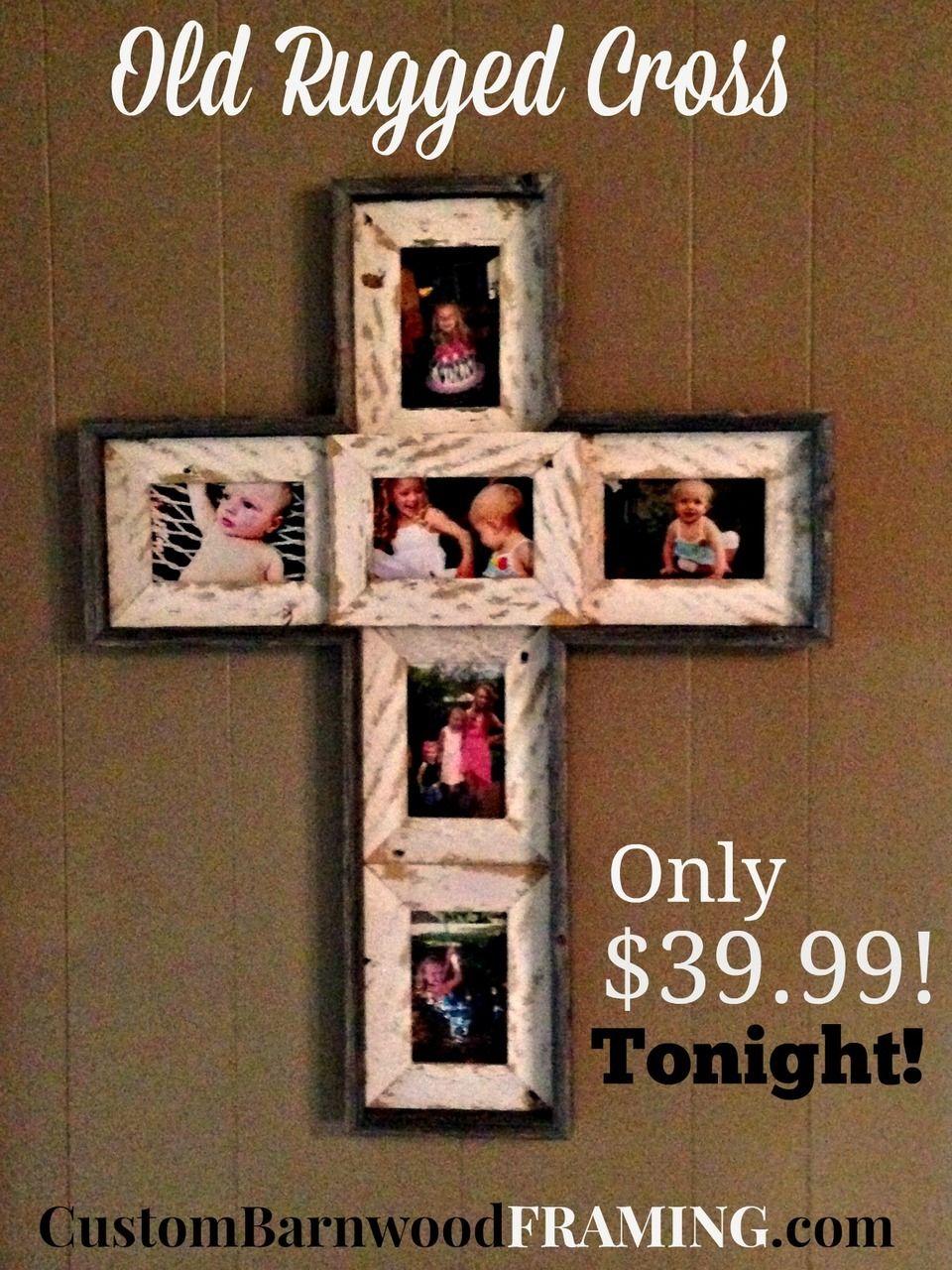 Old Rugged Cross Custom Barnwood Frames Wall Crosses