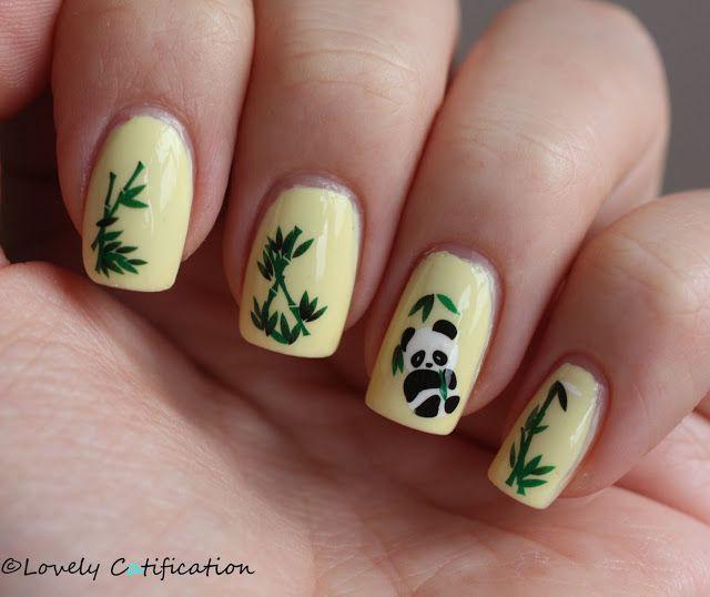 Lisa\'s Nail Art] Cute Panda | Nails | Pinterest | Panda nail art ...