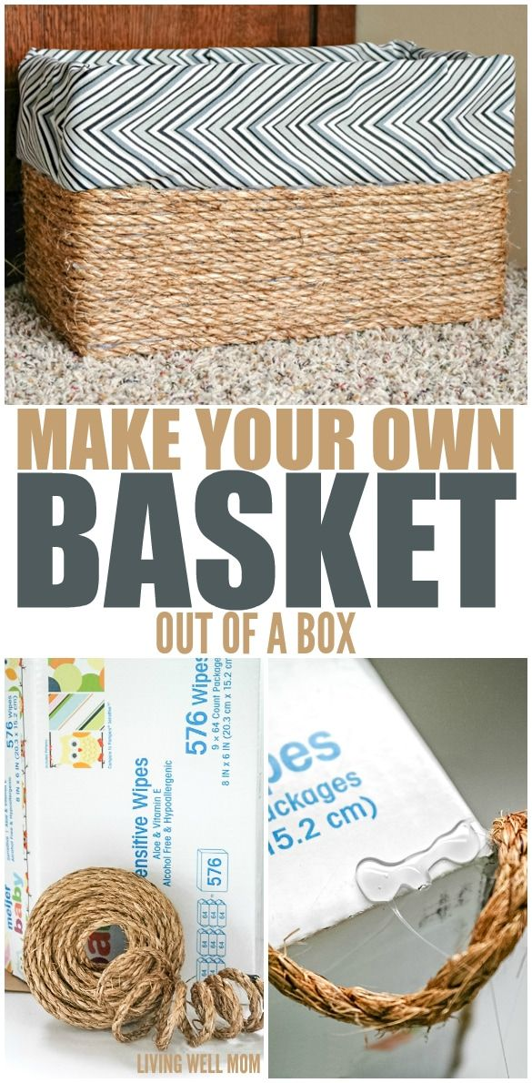 Make Your Own Basket Out of a Box -   19 diy Box art ideas