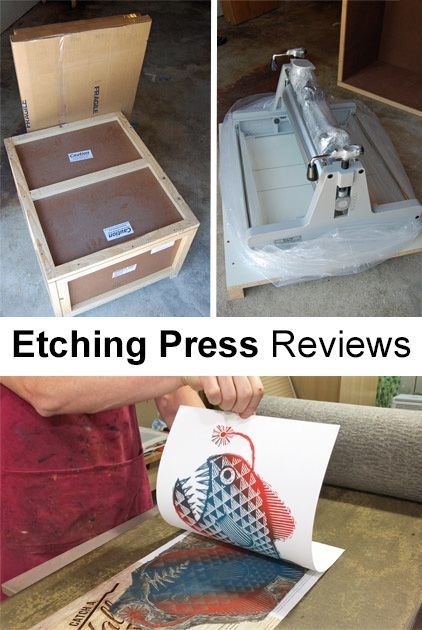Buying a new or used etching press  A review of two mid