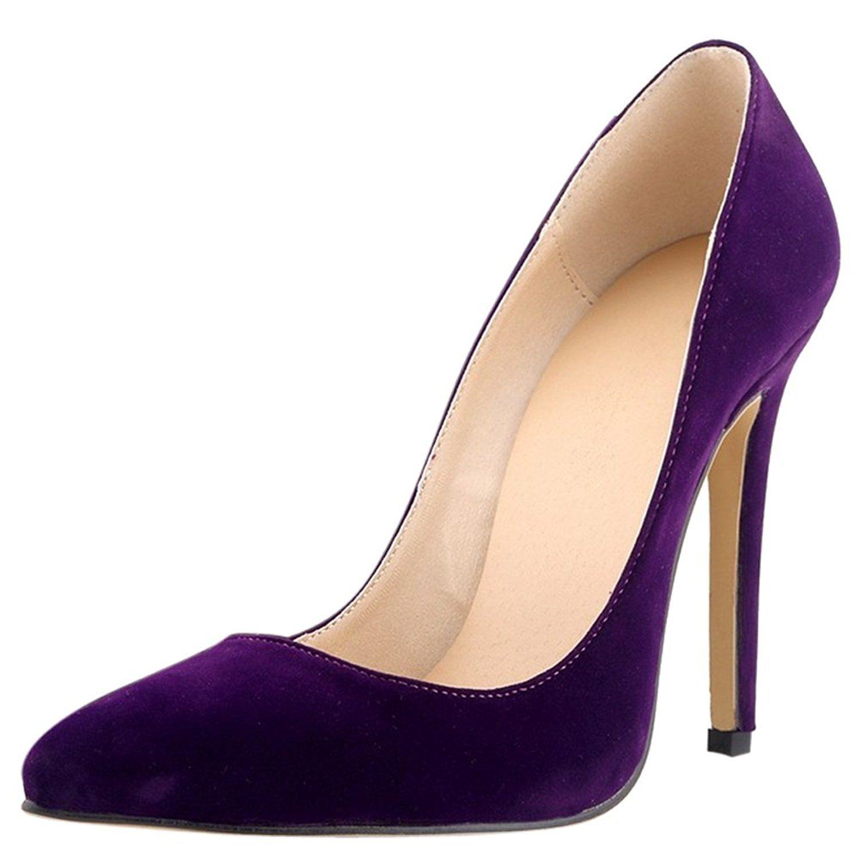 Amazon Com Women S Velveteen High Heel Dress Pumps With Multi Colors Pumps High Heel Dress Heels Womens Fashion Shoes