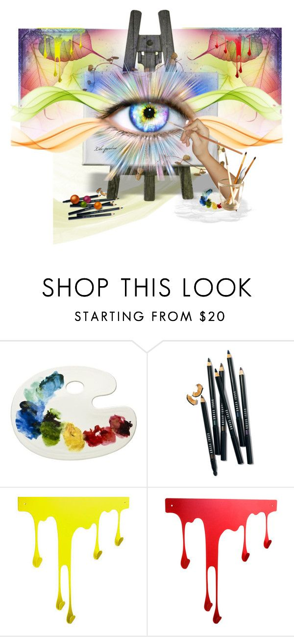 """""""Eye of Art"""" by rainheartcreations ❤ liked on Polyvore featuring Bobbi Brown Cosmetics and WALL"""