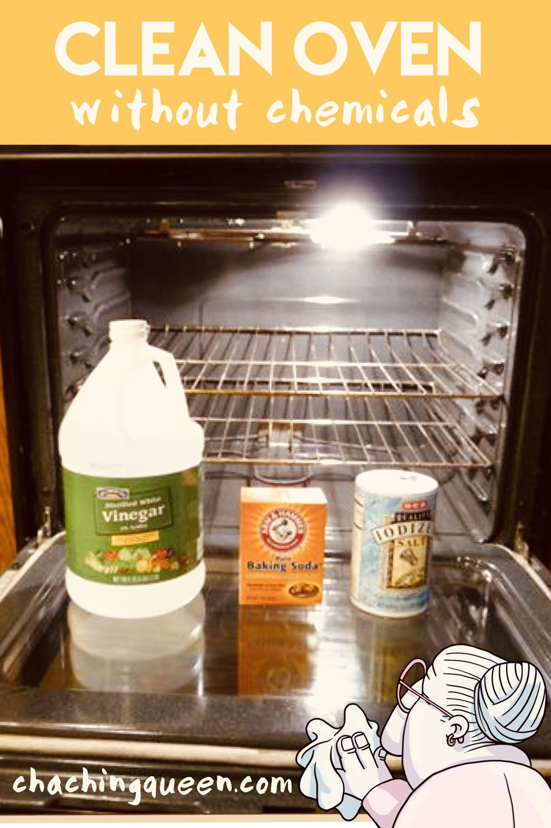 How To Clean Your Oven Without Chemicals Cleaning Ovens With Vinegar And Baking Soda Entertaining Parties Holidays Cooking Kitchen
