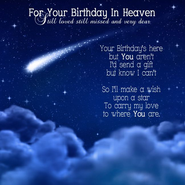 Your Birthday In Heaven – Send a Birthday Card on Facebook for Free