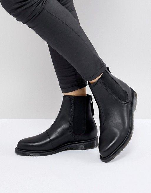 Dr Martens Zillow Refine Chelsea Boot in Black Leather | Dr martens, Black  leather and Chelsea