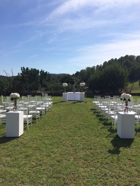 How to turn a plain garden into a ceremony area