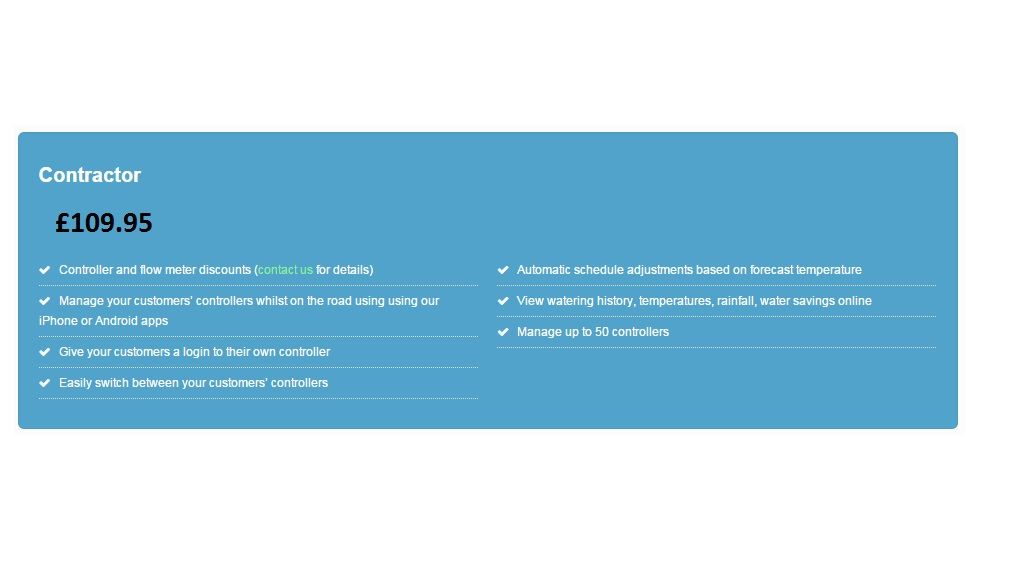 Hydrawise Contractor Plan Give your customers a login to